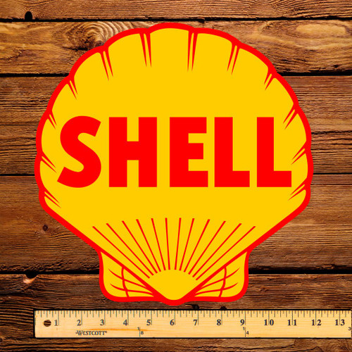 "Shell Gas 12"" Pump Decal"