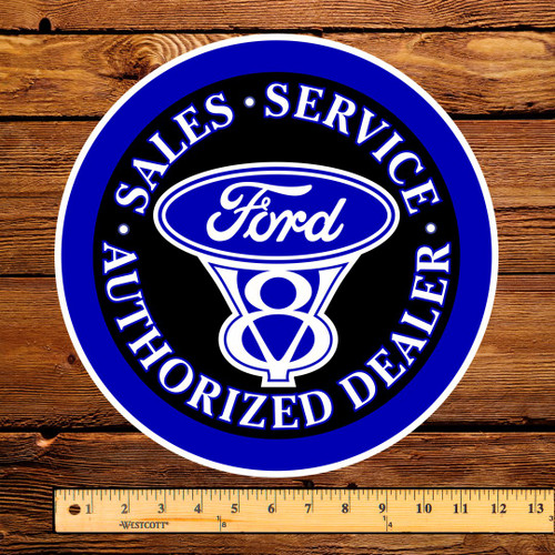 "Ford V-8 Authorized Dealer 12"" Pump Decal"