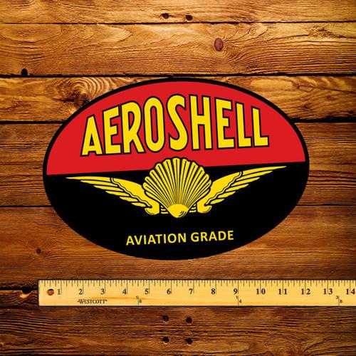 "Shell Aeroshell Gasoline 12"" Pump Decal"