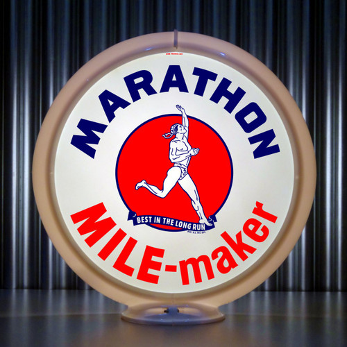 Marathon Mile Maker Gasoline   Gas Pump Globe