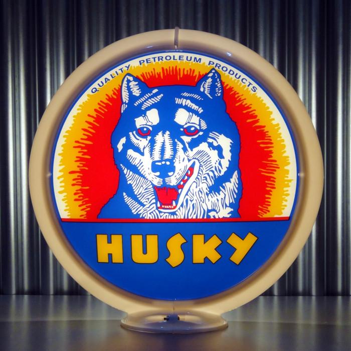 "Made by Pogo/'s Garage 13.5/"" Gas Globe Lenses Husky Gasoline"