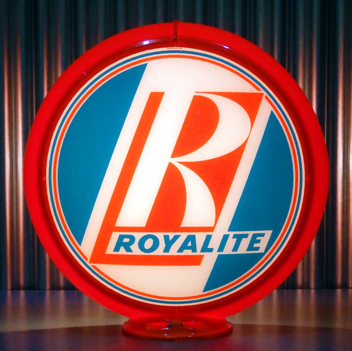 "13.5/"" Gas Pump Globe Royalite Gasoline Made by Pogo/'s Garage"