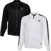 C8 Corvette New Era Track Jacket (black & white)