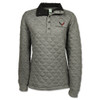 Women's C8 Corvette Gray Quilted Pullover
