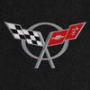 C5 Corvette Logo - Silver