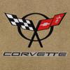 C5 Black Logo, Black Letters, Beige Background