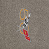 C5 Corvette 50th Anniv Logo Sideways