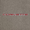 C5 Red Lettering, Gray Background