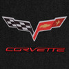 C6 Logo, Red Lettering, Black Background