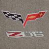 C6 Logo & Z06 Logo on Euro Gray Mat