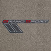 C6 Grand Sport Logo Only, Silver Lettering on Euro Gray Mats