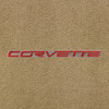 C6 Red Lettering on Beige Background, Cashmere Mat