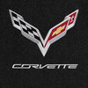 C7 Logo, Silver Letters, Ebony Mat