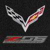 C7 Z06 Corvette Logo on Ebony Mat