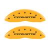 Z06/GS Corvette Brake Caliper Covers - Yellow (rear)