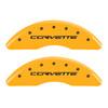 Z06/GS Corvette Brake Caliper Covers - Yellow (front)