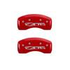 C5 Z06 Corvette Caliper Covers - Red (rear)