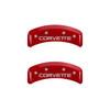C4 Corvette Caliper Covers - Red (back)