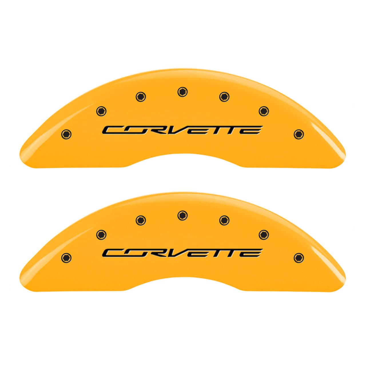 Corvette Brake Caliper Cover Yellow (front)