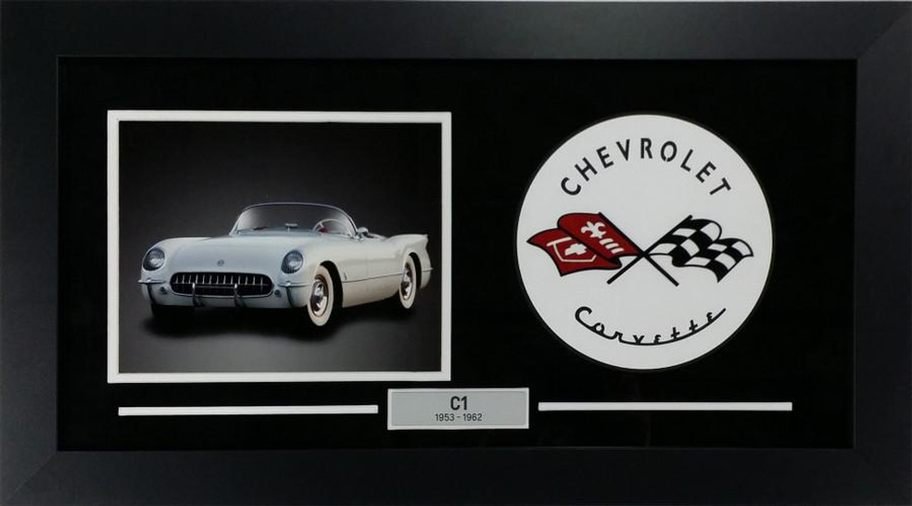C1 Corvette Custom Framed Picture w/ sample C1 Photo