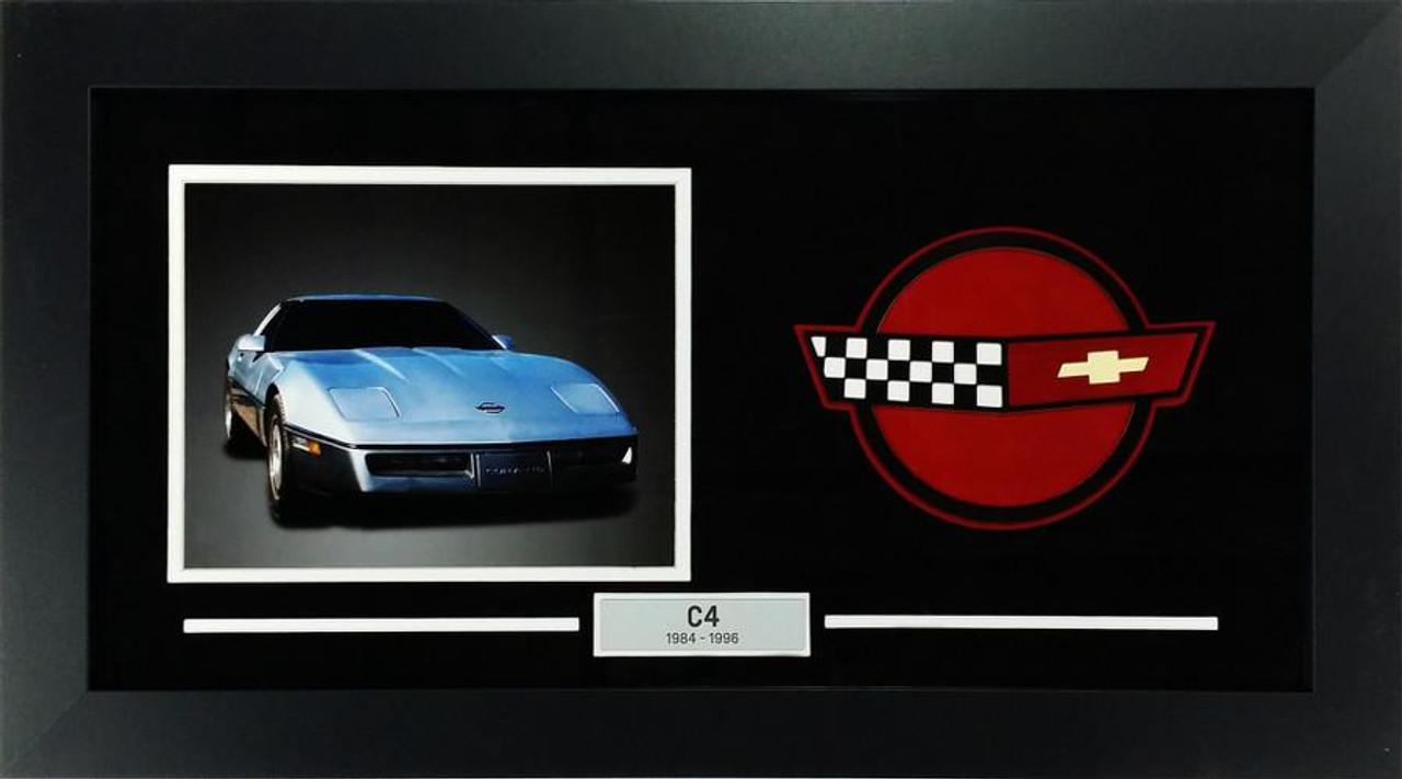 C4 Corvette Custom Framed Picture  w/ Sample Vette