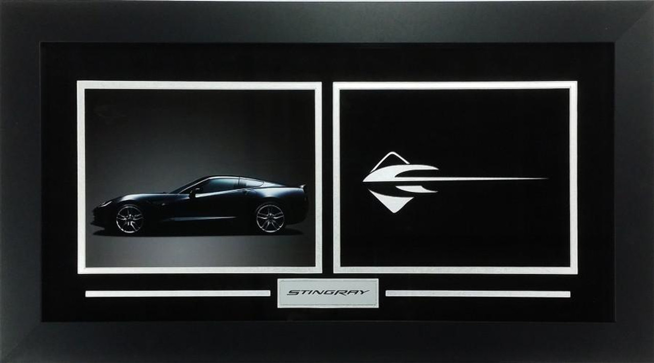C7 Corvette Stingray Custom Framed Picture  w/ Sample Vette