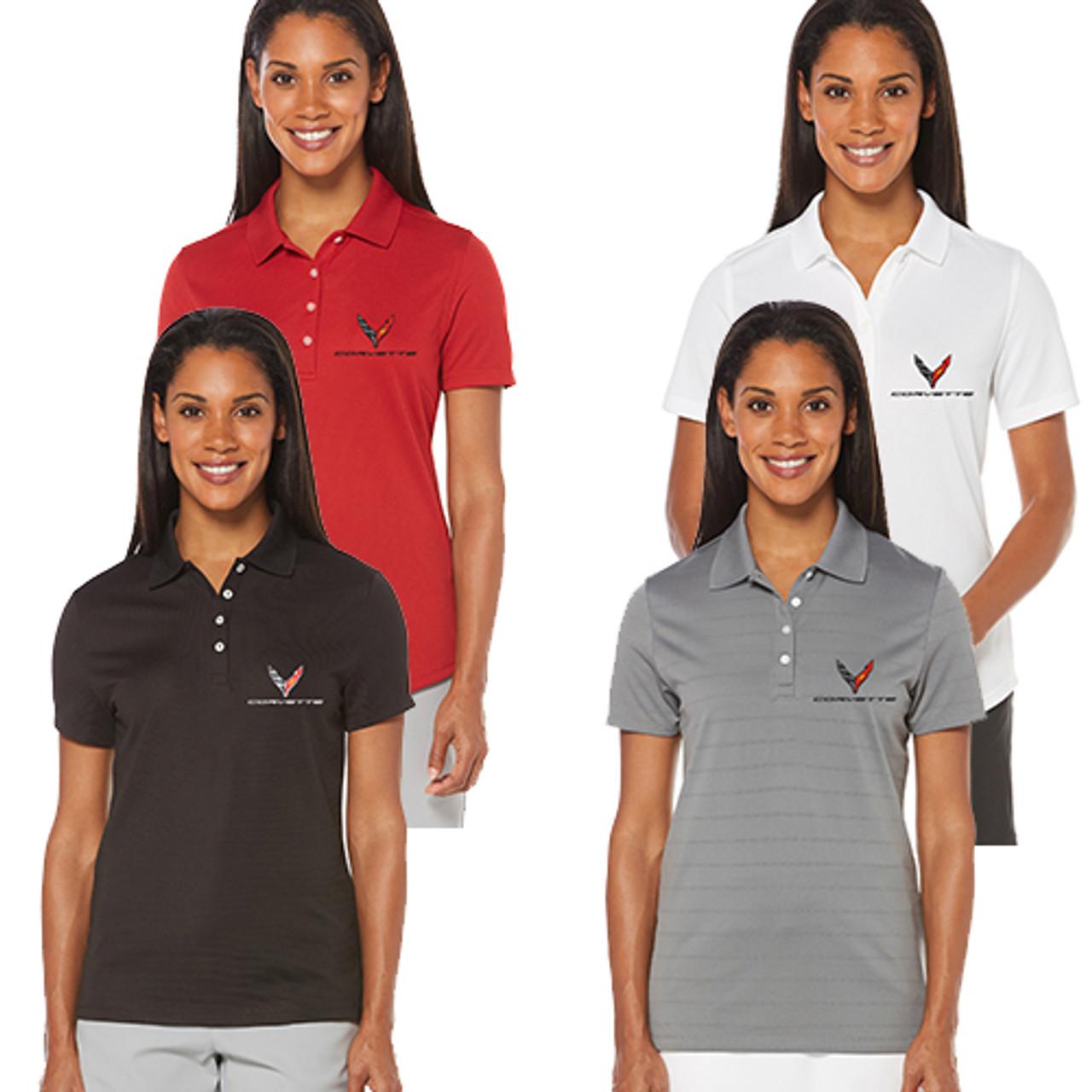 Womens C8 Next Gen Corvette Callaway Polo Shirt