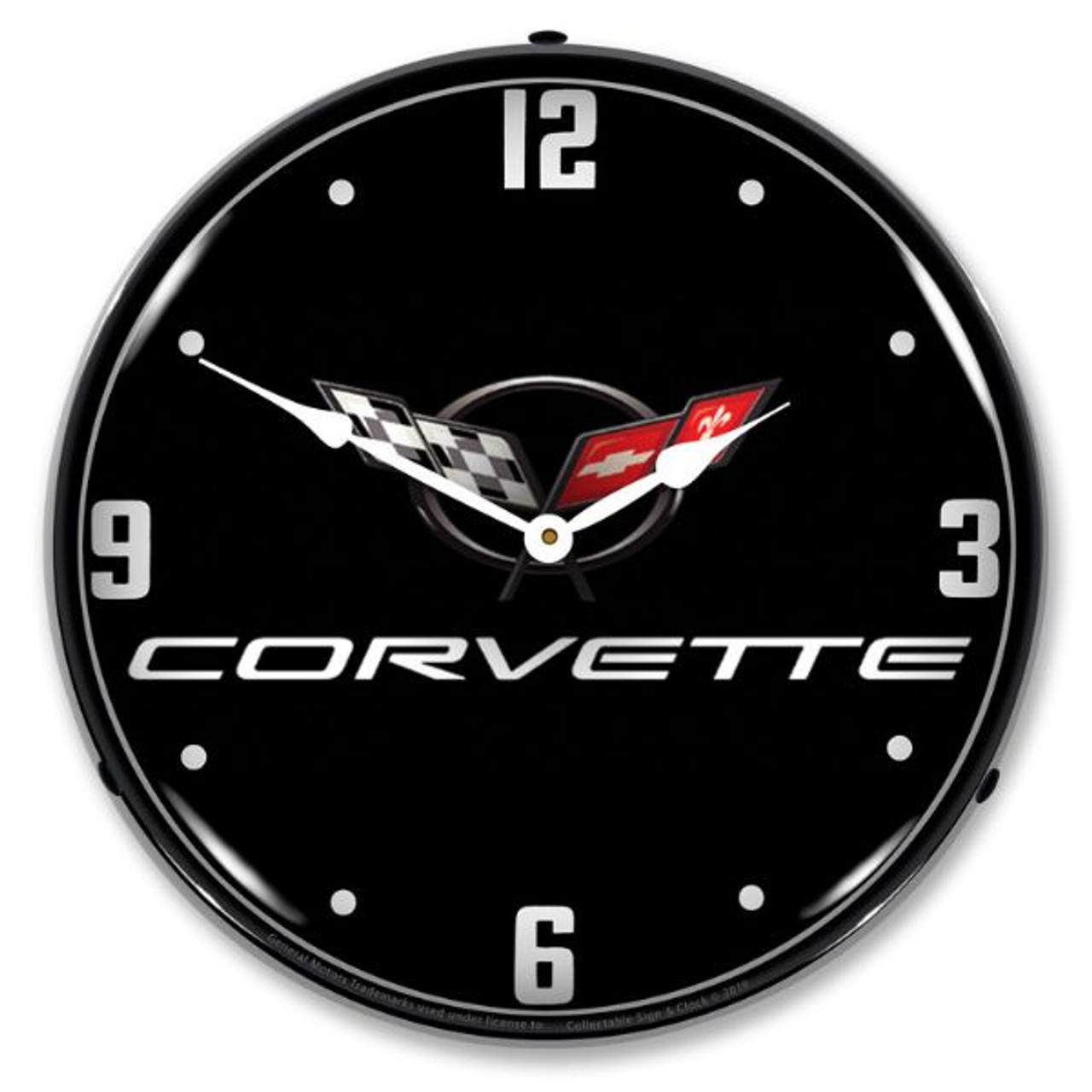 C5 Corvette Black Tie LED Backlit Clock