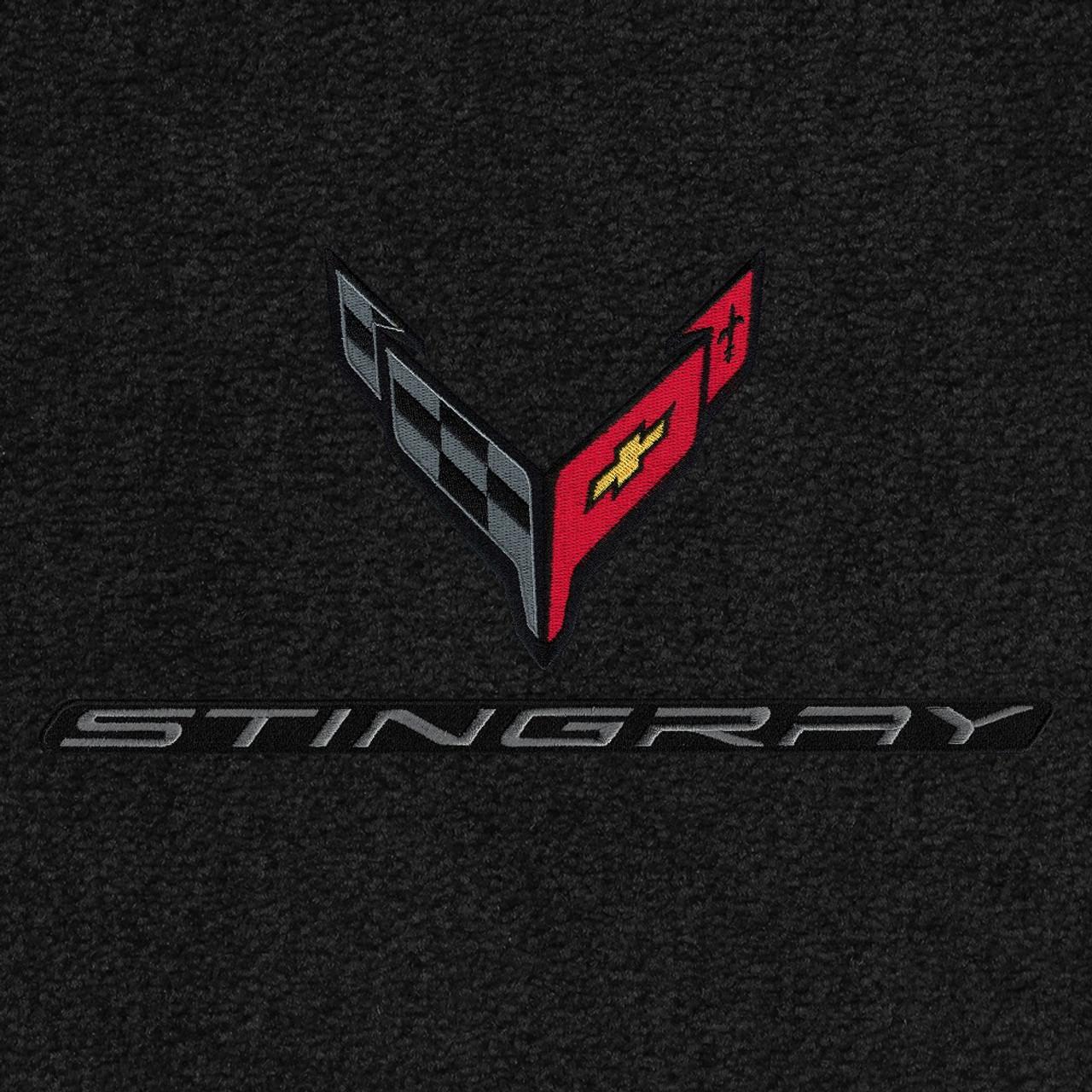 819413 - C8 Logo Carbon & Stingray Word Carbon