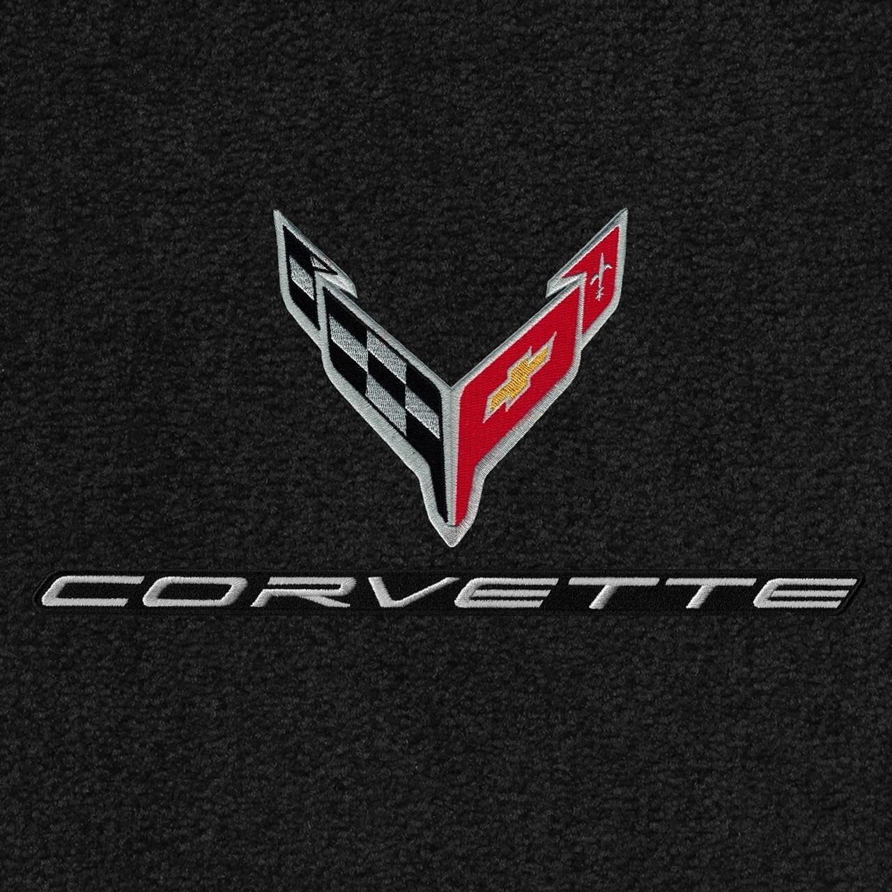819416 - C8 Logo Silver & Corvette Word Silver