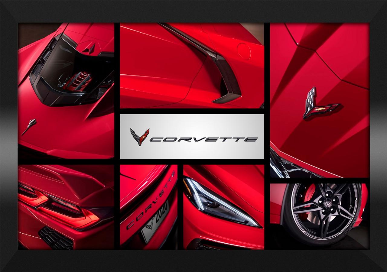 C8 Corvette Collage Framed Canvas Picture