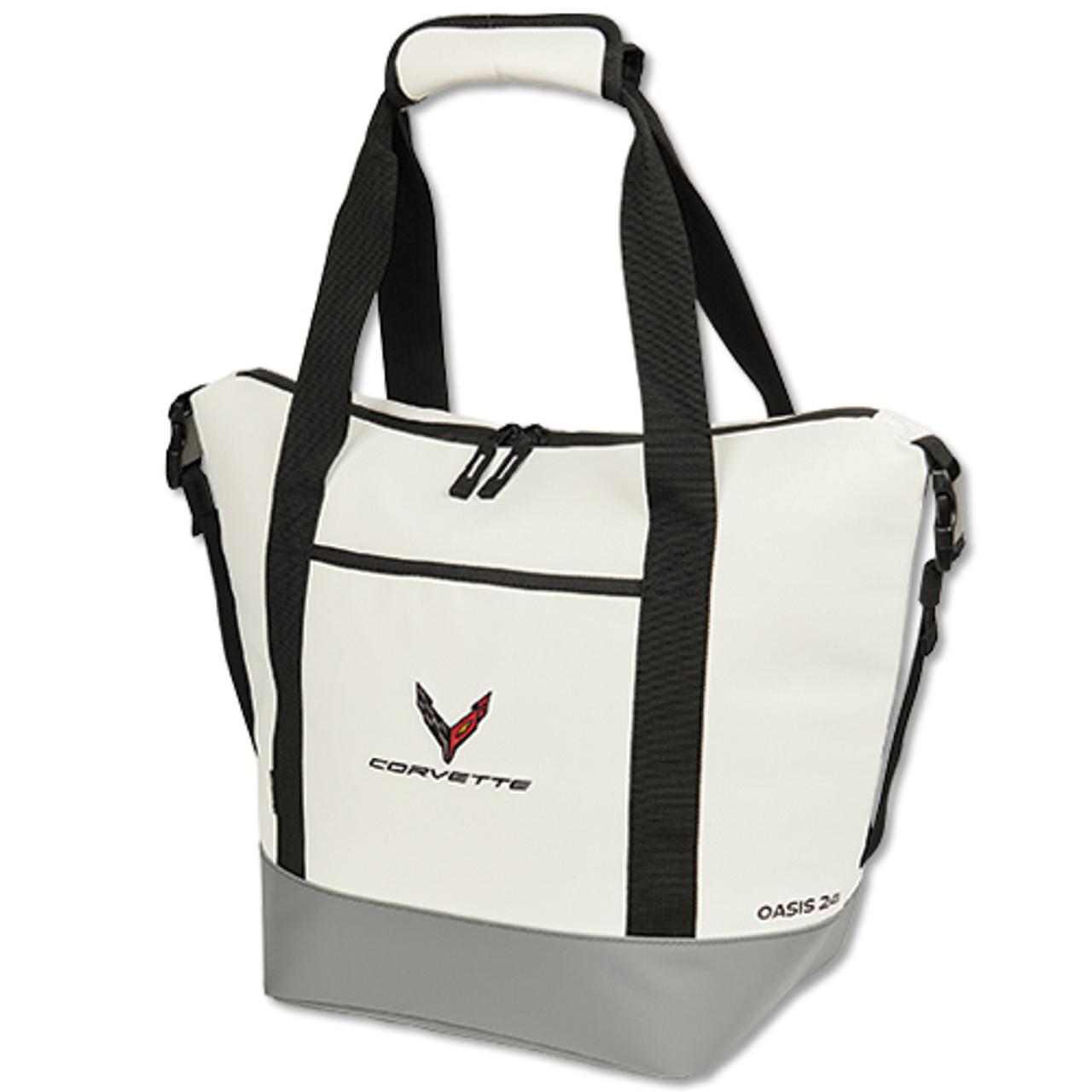 C8 Corvette White Cooler Bag