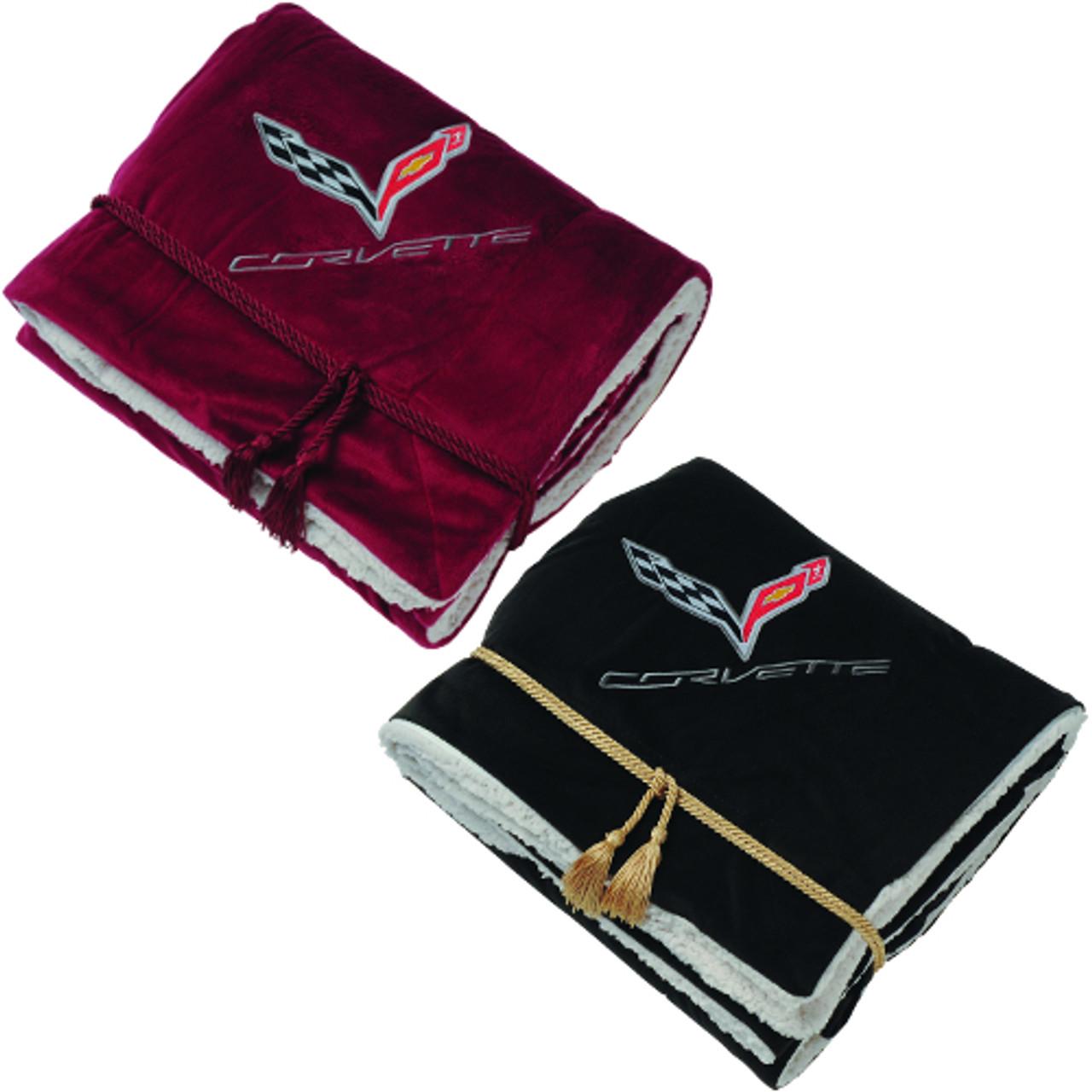 C7 Corvette Faux Lambs Wool Blanket