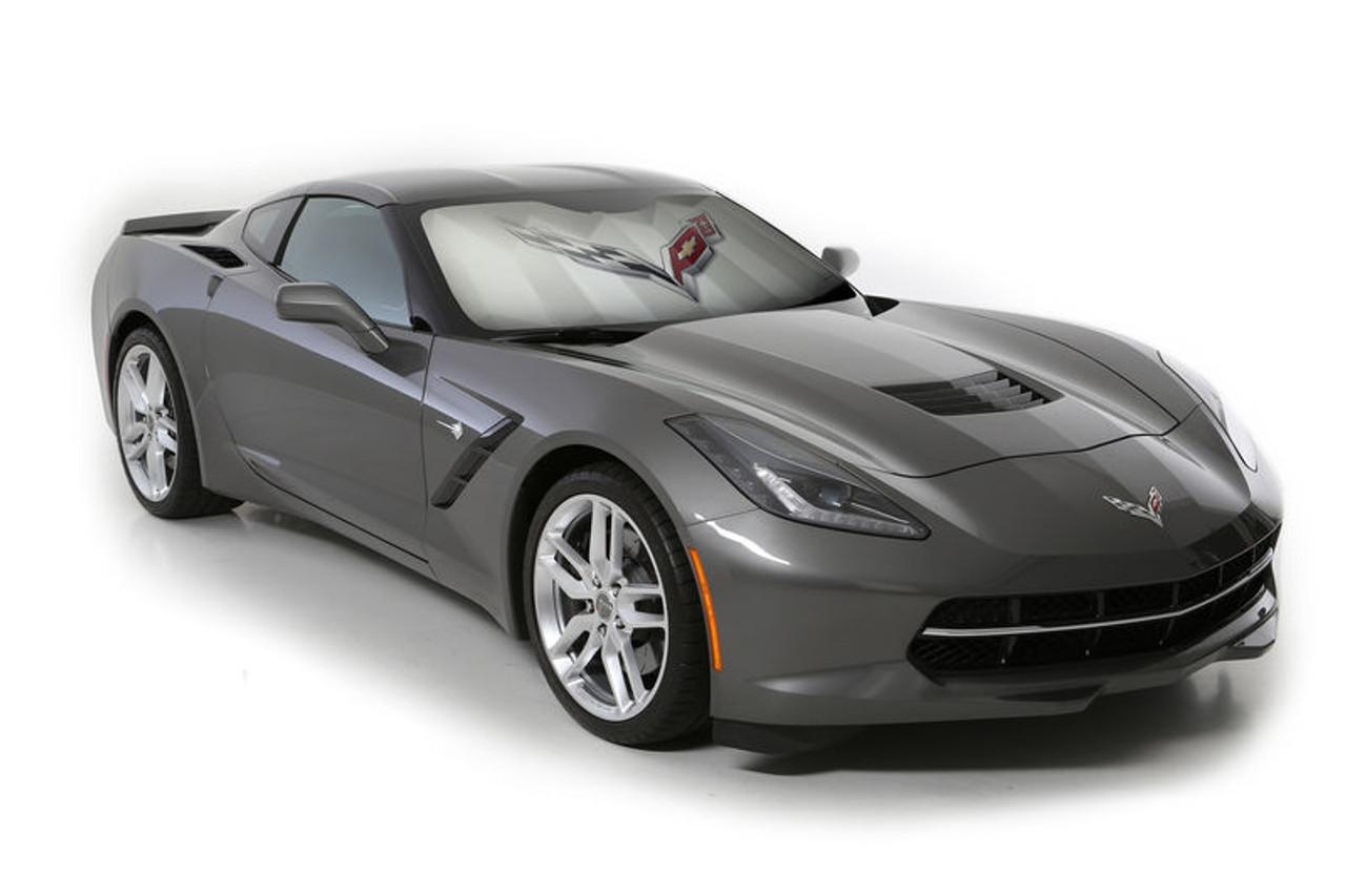 C7 2014-2019 Corvette Foldable Bubble Sun Shade (in car)
