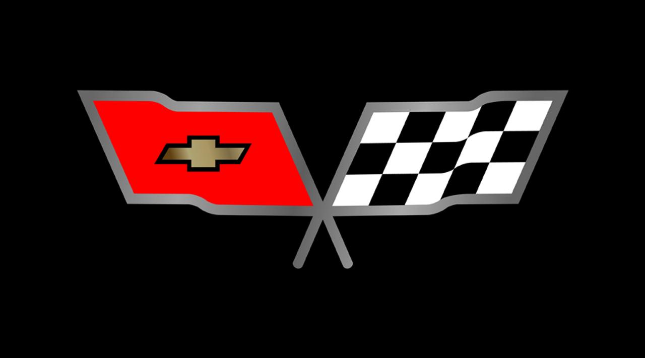 C3 Corvette Cross Flags License Plate