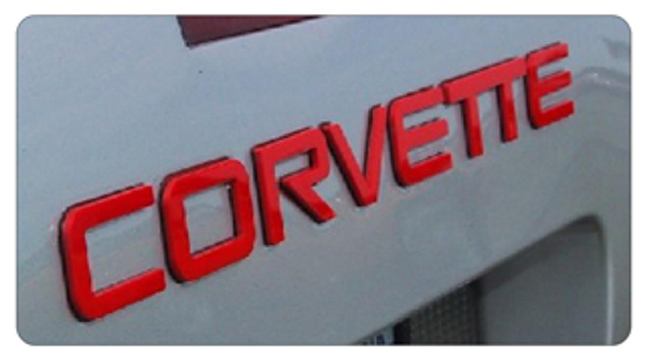 C4 Corvette Letter Kit (red)