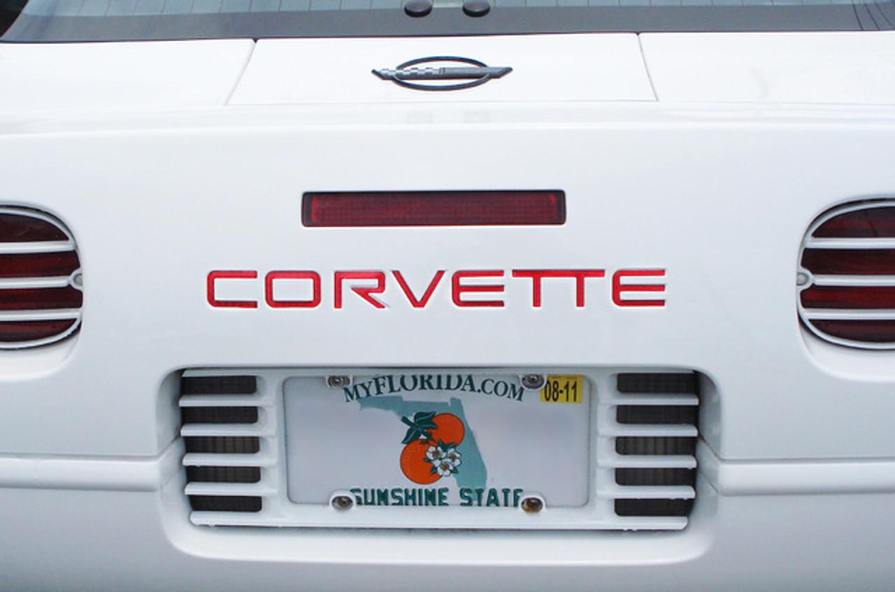C4 Corvette Letter Kit (on car)
