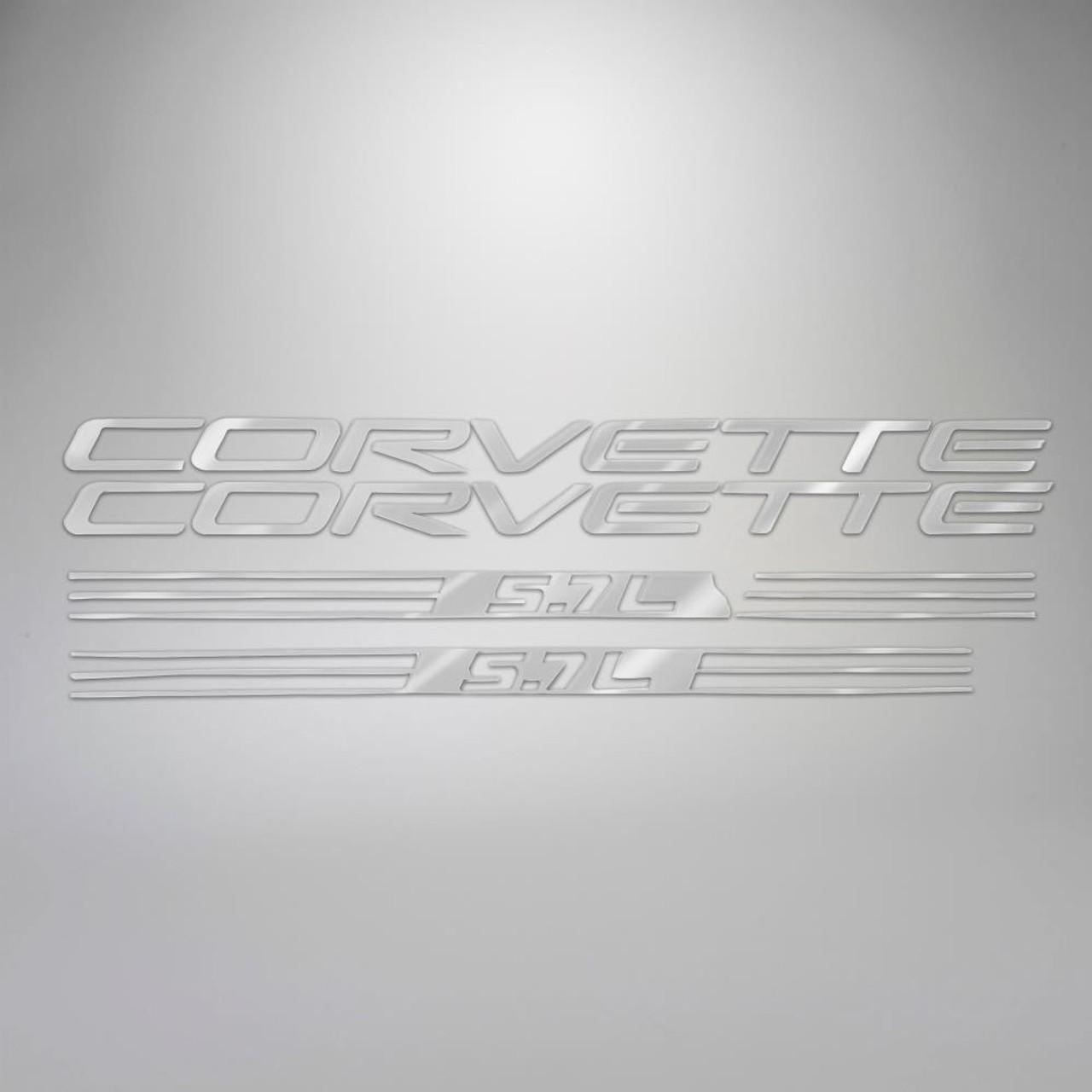 C5 97-98 Corvette 5.7L Fuel Rail Letter Kit - Ultra Chrome