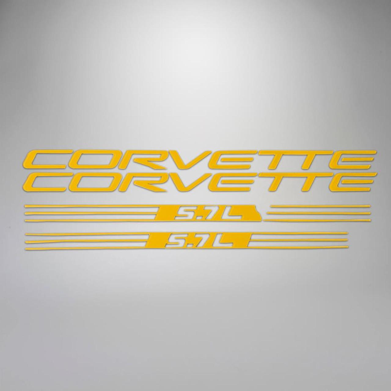 C5 97-98 Corvette 5.7L Fuel Rail Letter Kit - Yellow