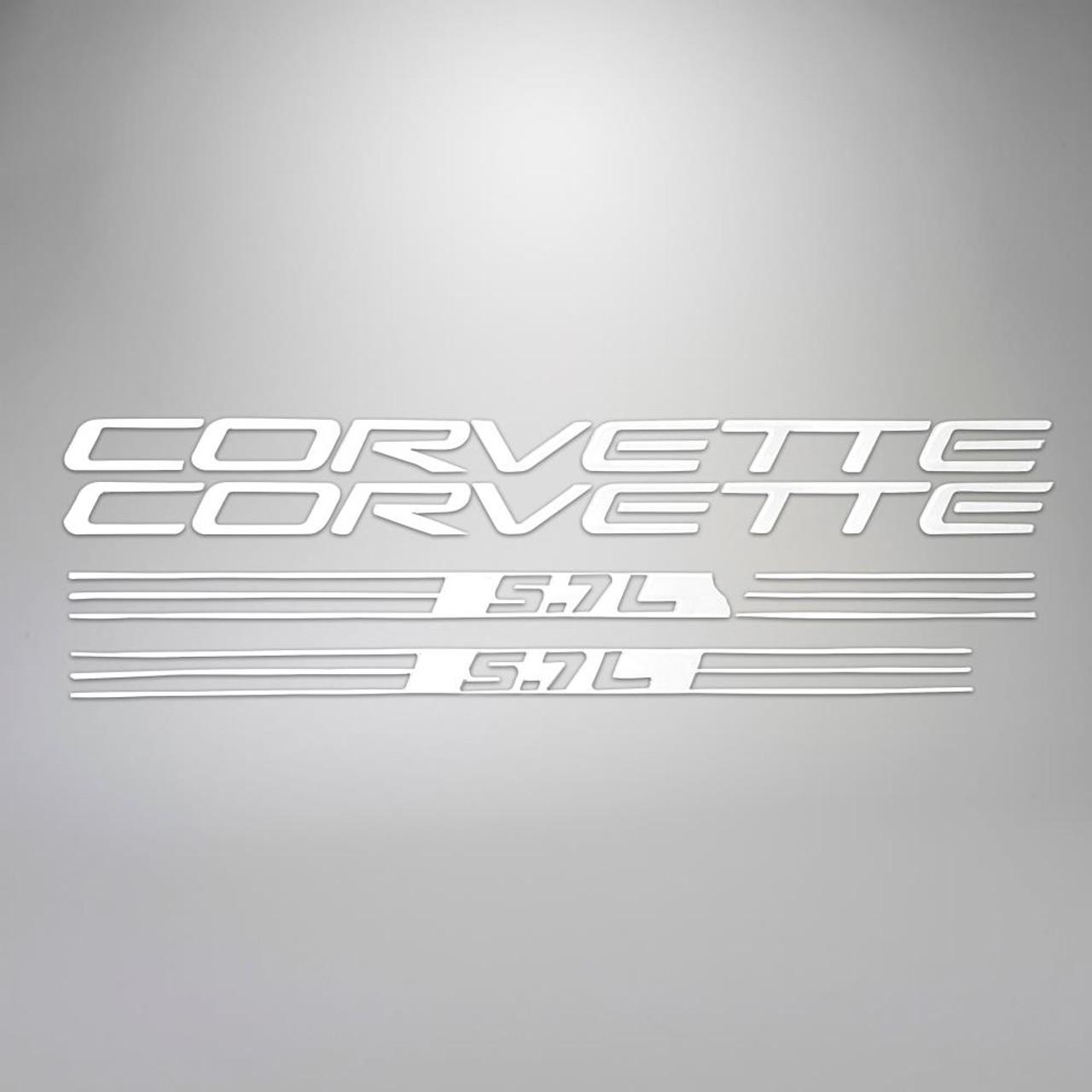 C5 99-04 Corvette 5.7L Fuel Rail Letter Kit - White