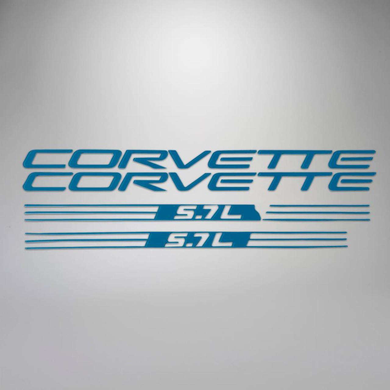 C5 99-04 Corvette 5.7L Fuel Rail Letter Kit - Blue