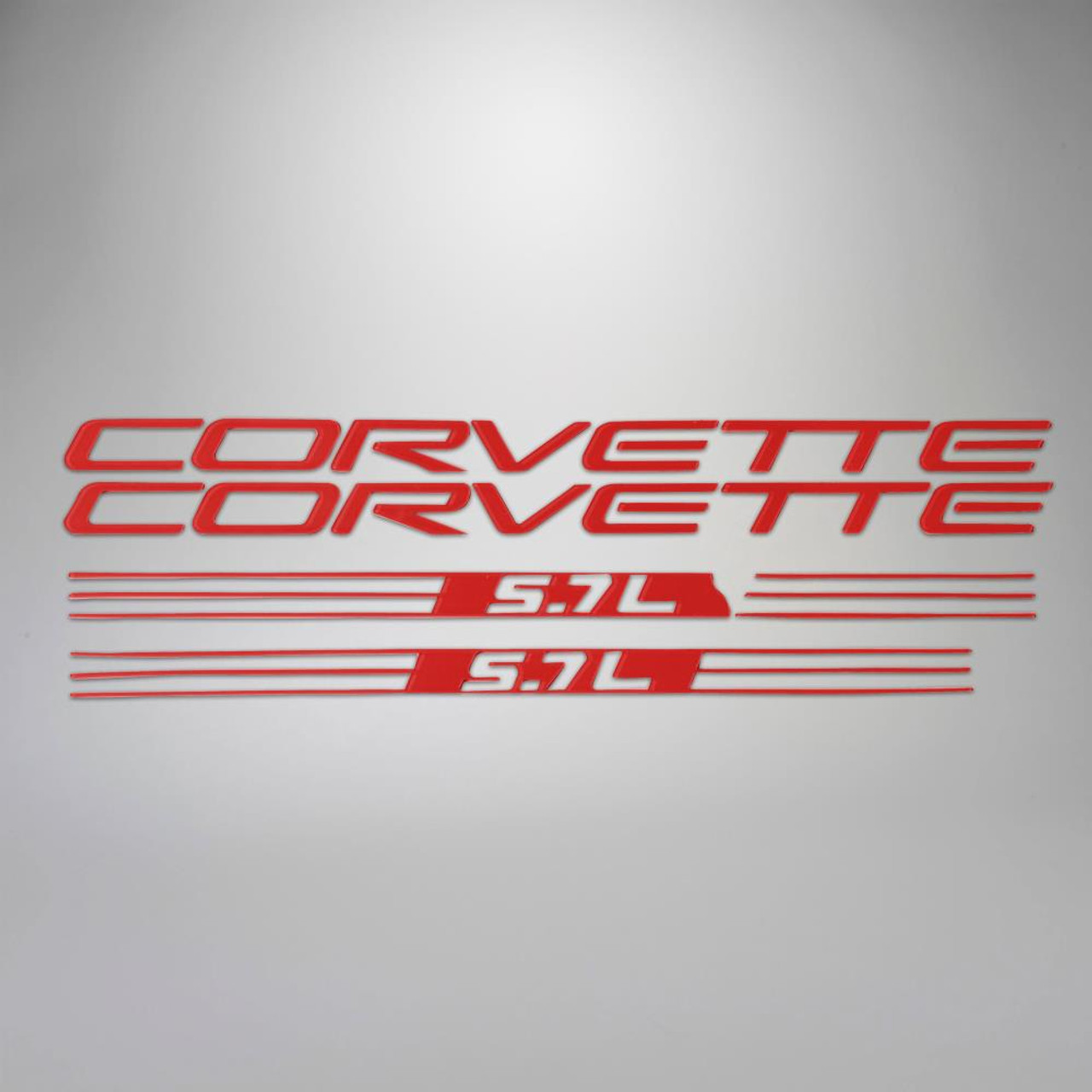 C5 99-04 Corvette 5.7L Fuel Rail Letter Kit - Red