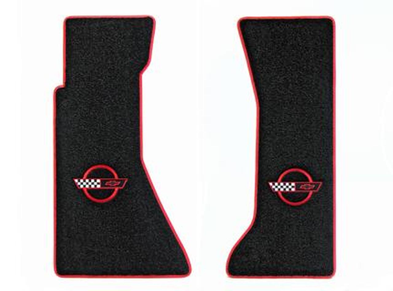 C4 Red Logo Floor Mats w/ Red Binding