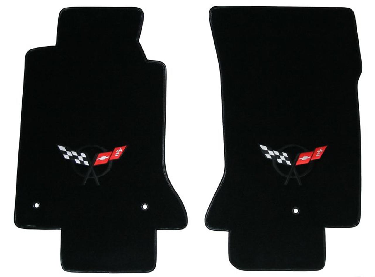 C5 Black Logo Floor Mats