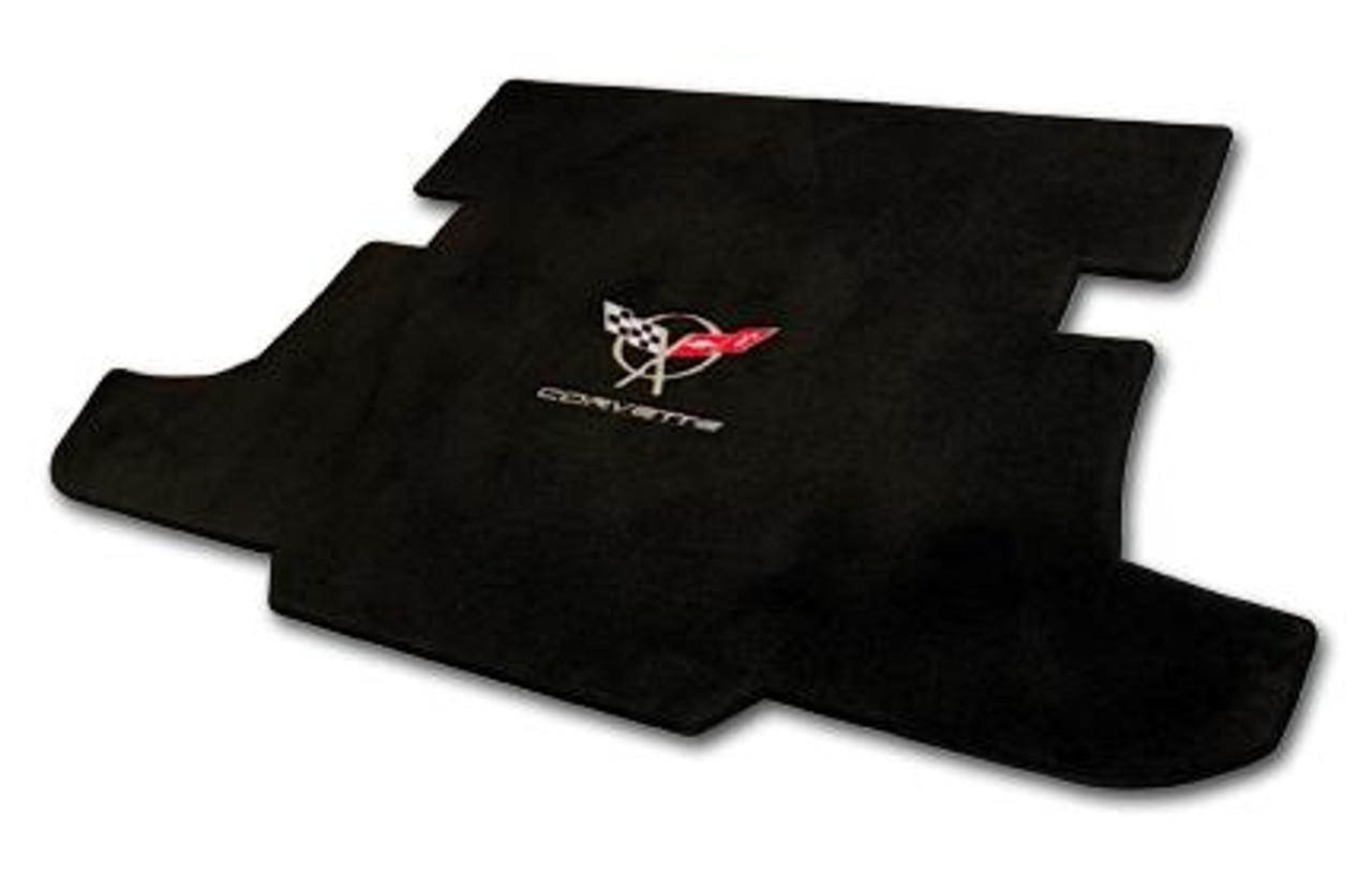 C5 Corvette Logo/Lettering on Black Cargo Mat