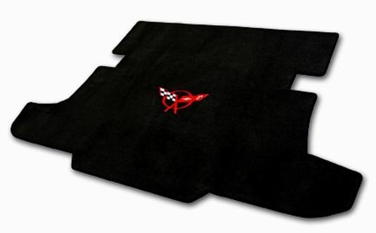 C5 Corvette Red Logo on Black Cargo Mat