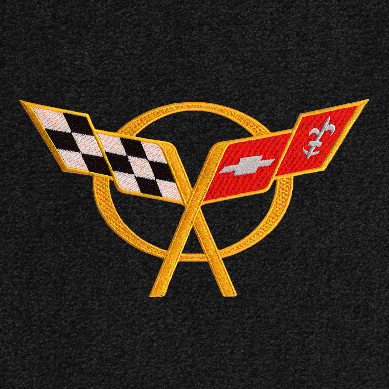 C5 Corvette Logo - Yellow