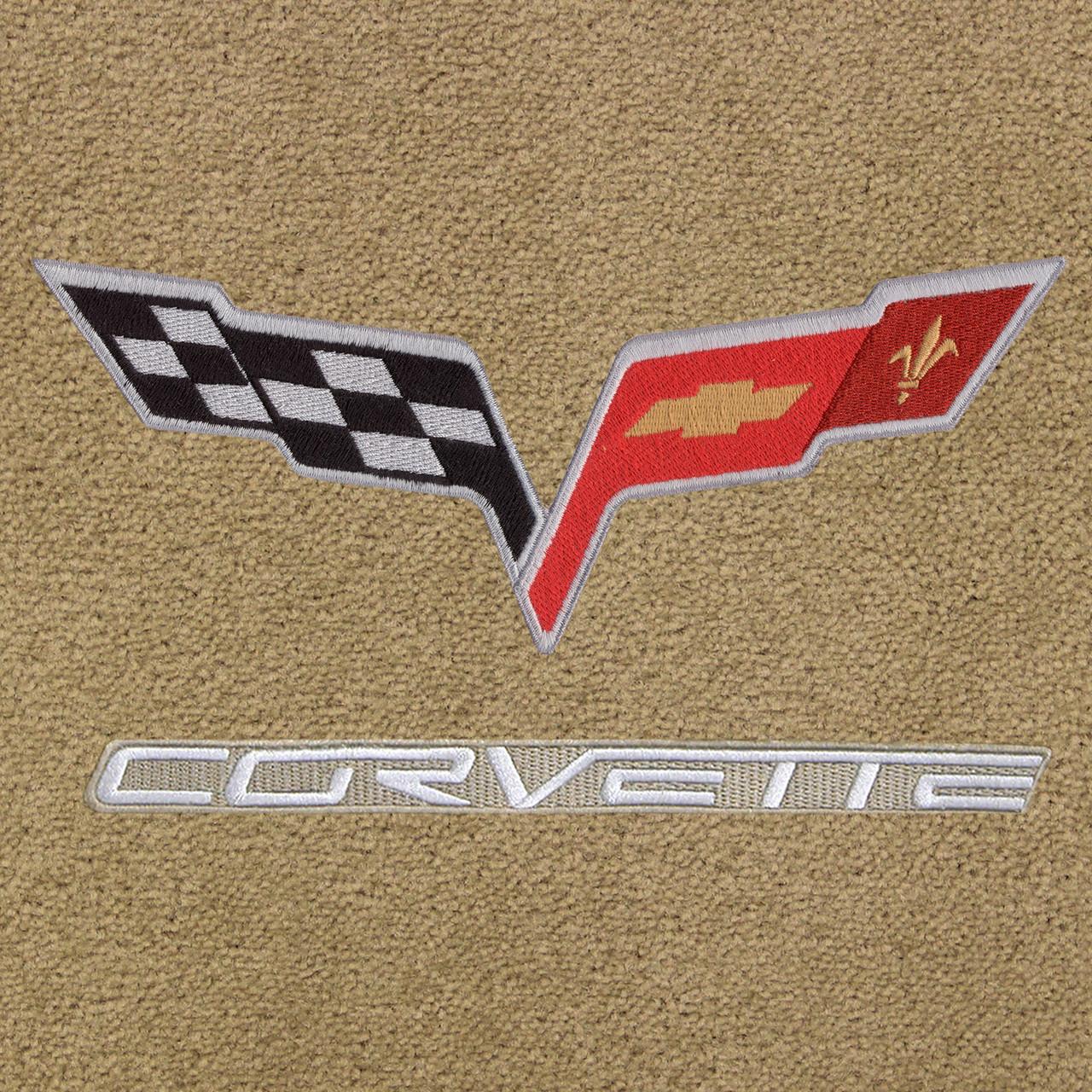 C6 Logo, Silver Lettering, Beige Background