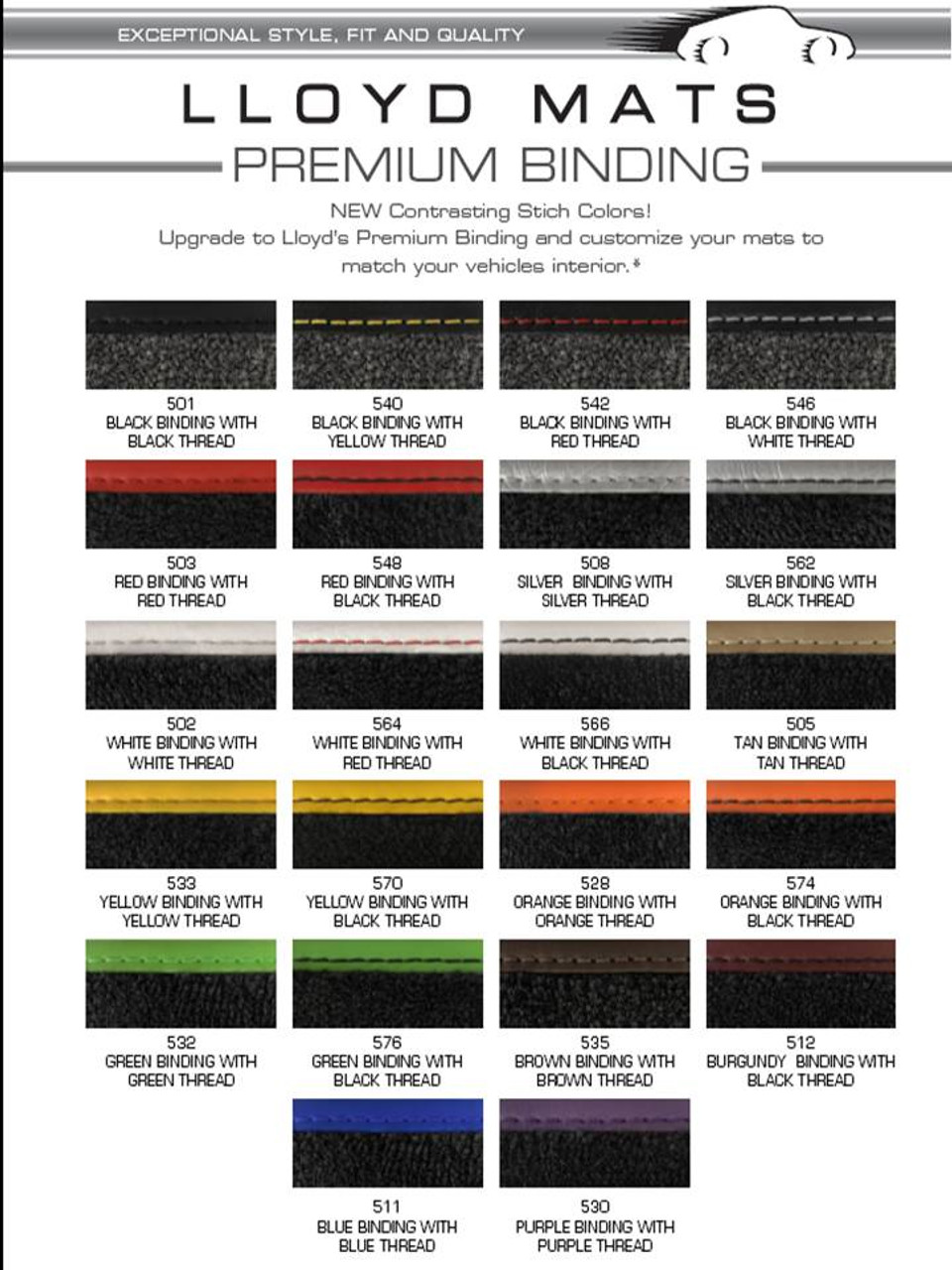 Premium Binding Colors