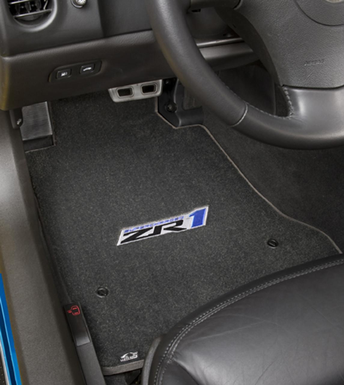 C6 ZR1 Ebony Floor Mat in Car